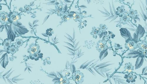 Andover, Edyta Sitar, Something Blue, Bouquet Light blue 8822W, 100% Cotton